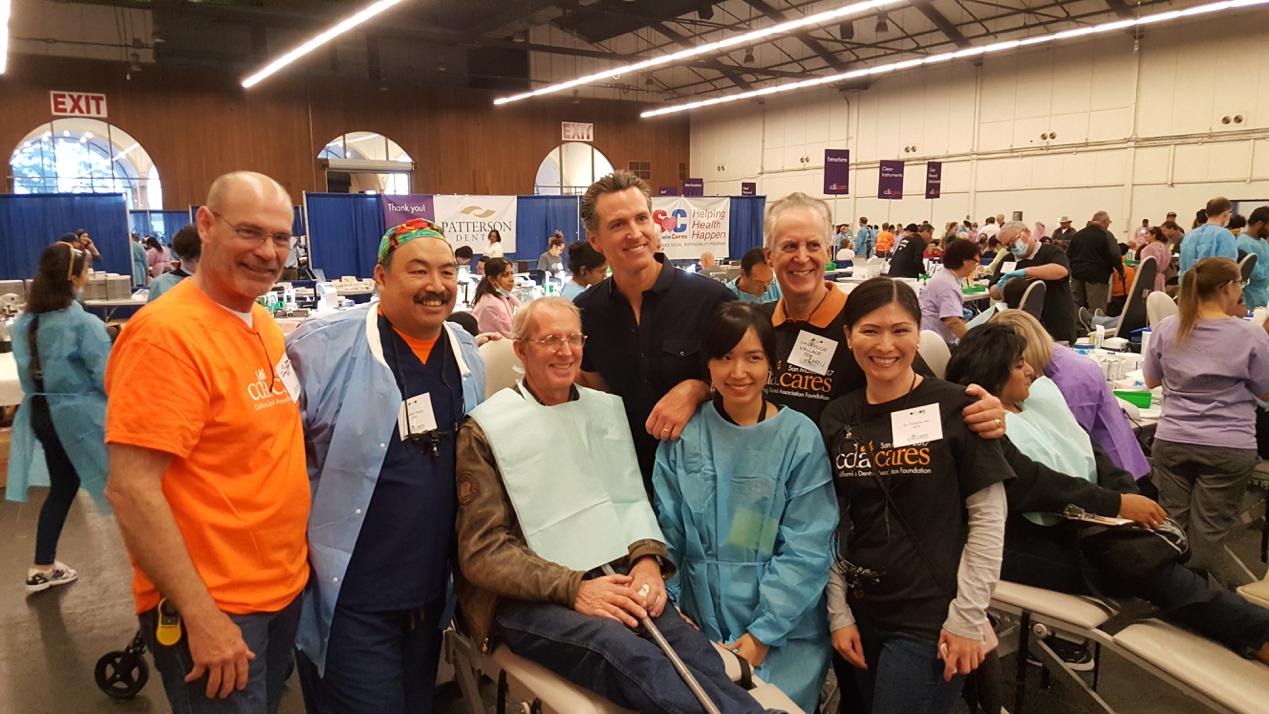 Gavin Newsom at the CDA Cares Event